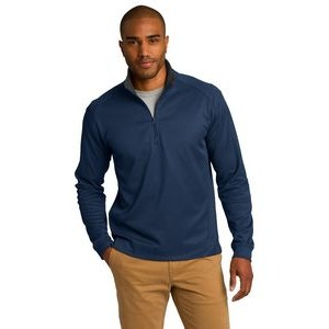 Port Authority® Men's Vertical Texture 1/4-Zip Pullover Sweater