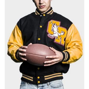The Varsity Quilt-Lined Wool/Leather Jacket